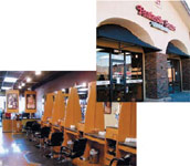 FROM TOP: Fantastic Sams plans to add more than 130 locations in the U.S.; The full-service hair salon offers customers top-notch haircare and salon products.