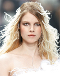 The ruffled hair at Nina Ricci looked as light as a feather.