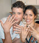 Michael Urie and Ana Ortiz show off their manicures.