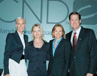 From Left: CND's Jan Arnold, Kim Natale, Jacquie Johnson and John Heffner