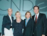 From Left: CND's Jan Arnold, Kim Natale, Jacquie Johnson and John Heffner