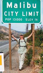 Doug Schoon at the 35-mile mark during his recent 45-mile walk from Ventura Harbor to Malibu, CA