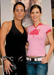 PureOlogy National Artistic Team member Wendy Belanger with Entourage star Perrey Reeves