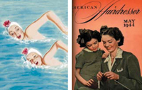 LEFT: One of Al Parker's mother-and-daughter illustrations for Ladies' Home Journal in the 1940s; RIGHT: Our May 1944 cover also featured a mother and daughter.