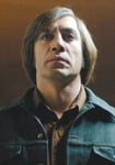 Javier Bardem's hairstyle is as weird as his character in No Country for Old Men.