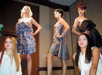 Models present the beautiful Technolux collection onstage.