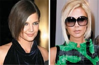 Katie Holmes and Victoria Beckham are sporting au courant deconstructed cuts that are dictating the trend for subtle, understated haircolor.