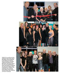 From Top: George Morales, Winn Claybaugh, Dianne Ingram, Mayor Marty Blum, Brennan Claybaugh, Angus Mitchell and John Paul DeJoria participate in the ribbon-cutting at the opening of Paul Mitchell The School Santa Barbara; the staff from Paul Mitchell The School Santa Barbara; Paul Mitchell The School Santa Barbara owners George Morales, Lori Noble, Chris Claybaugh, Denny Claybaugh, Angus Mitchell, Dianne Ingram, John Paul DeJoria, Winn Claybaugh and Brennan Claybaugh.