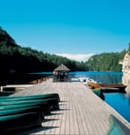 The boat dock at Mohonk Mountain House
