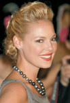 Katherine Heigl's hair is the buttery color of vanilla-bean ice cream melting in the sun