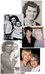 1. Pauline Poole as a young woman; 2. Poole with her daughters Lois and Ann; 3. Ann with her mother a few years ago; 4. my mom with me when I was just a baby; 5. and 50 years later in 1998