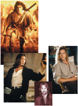 CLOCKWISE, FROM TOP: Hawkeye (Daniel Day-Lewis) comes to Cora Munro's rescue in The Last of the Mohicans; Brad Pitt goes long in Legends of the Fall; Viggo Mortensen's facial hair ups his sex appeal in The Lord of the Rings; Desperado's Antonio Banderas carries a piece.