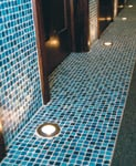 At Infinity Day Spa in Cary, IL, Pelafas used floor lights to add visual interest.
