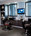 The new Kim Vo Salon in the Mirage Las Vegas features private grooming quarters for men.