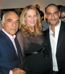 Interior designer Celerie Kemble, flanked by Giancarlo and Adrian De Berardinis, at the opening