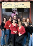 Theresa Peterson, third from left, with members of the team from Kris Cole Salon