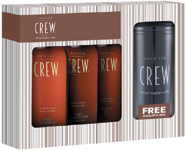 American Crew will offer several special boxed sets in June. One of them comes with a coffee mug, as well as Classic Body Wash, Daily Shampoo and Firm Hold Gel.