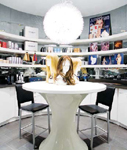 At the wig bar in the Kim Vo Salon in Las Vegas, clients can try on celebrity-inspired wigs.