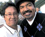 Comedian george lopez with Alterna Creative Director russs mariano