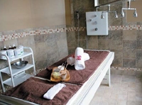 A treatment room at Complexions Spa for Beauty and Wellness