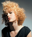 Colin Greaney, U.K. Creative Director for Mahogany Hairdressing, created this curly-haired look.