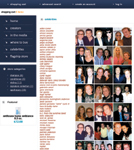 The celebrity page has pictures of Cooper and his A-list clients.