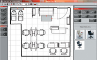 Salon Planner allows you to play with furniture and layout options to easily design your salon.