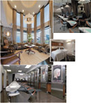 CLOCKWISE, FROM TOP: The comfortable pedicure chairs allow clients to relax during the service; a spa treatment room; the salon features an elegant decor mixing contemporary design and old-world charm; the relaxation lounge.