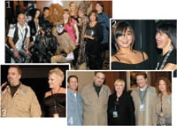 1. Phoenix Salon & Spa won Best in Show; 2. Laura Angiolillo of L.A. Hair Salon in Philadelphia (right) poses with her model; 3. Harry Giordano and Cherry Petenbrink of the Joico National Artistic Team; 4. City of Hope's Alan Levey, Giordano, American Salon's Editor in Chief Marianne Dougherty, Schoeneman Beauty Supply's Jeff Abrams and Tina Bodnar of Salon Concepts.