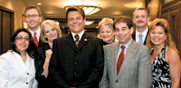 The 2009/2010 National Cosmetology Association (NCA) Board of Directors, from left: Vice President Grace Santiler Nowik, Director Kris Kutcher, Immediate Past President Marlene Bridge, President Mark Goodman, Director Sandi Holland, Secretary/Treasurer Steve Ukes, Director George Schmieder and Director Beth Hickey