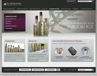 Pureology's pro site lets users get personal.