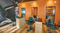 Bliss Salon's Vibrant, Industrial Decor in Marblehead, MA