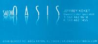 Salon Oasis Business Card Design