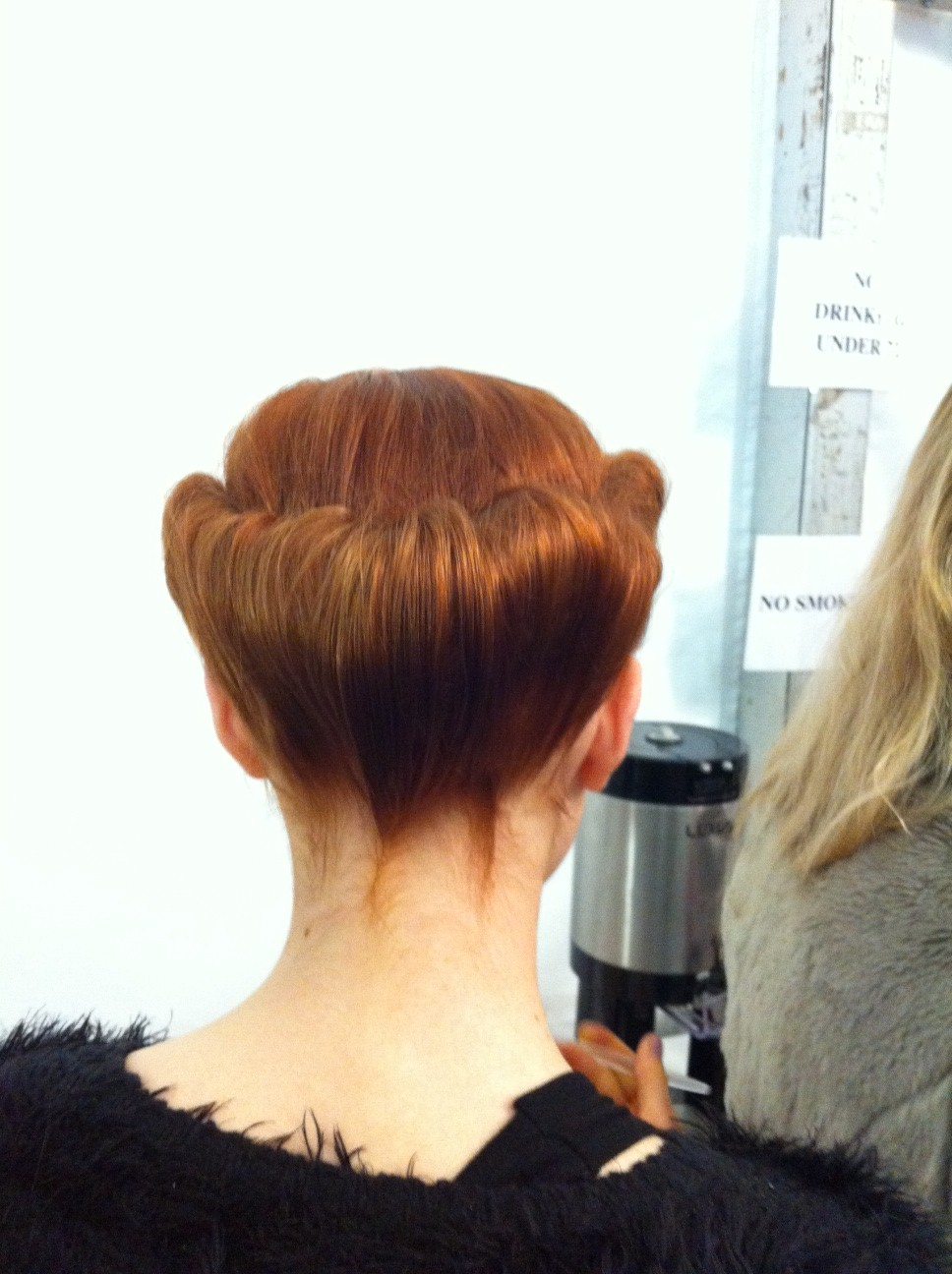 Orlando Pita's 1940s-inspired updo at Carolina Herrera