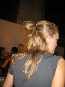 The half-pony style for the Alexander Wang show