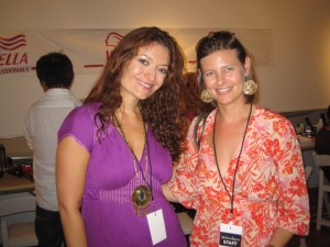 Me with Eva Scrivo backstage