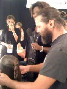 Hairstylist Kevin Ryan works his magic at Milly