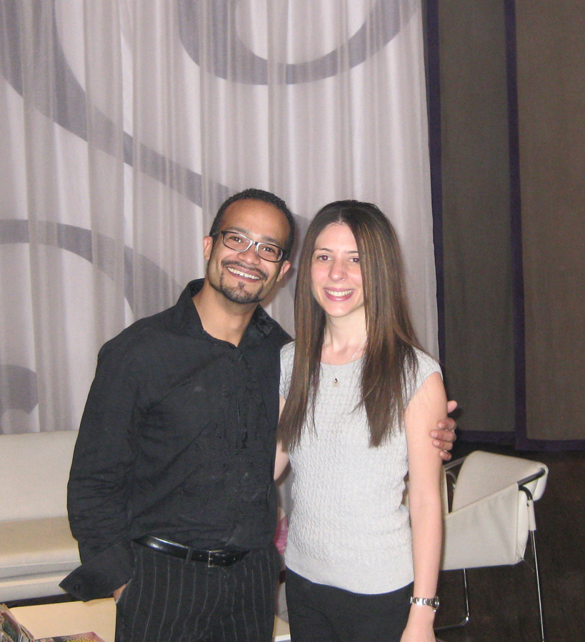 American Salon's Nicole Palmieri poses with Senses owner Antonio Rosa after receiving the La-Brasiliana treatment.