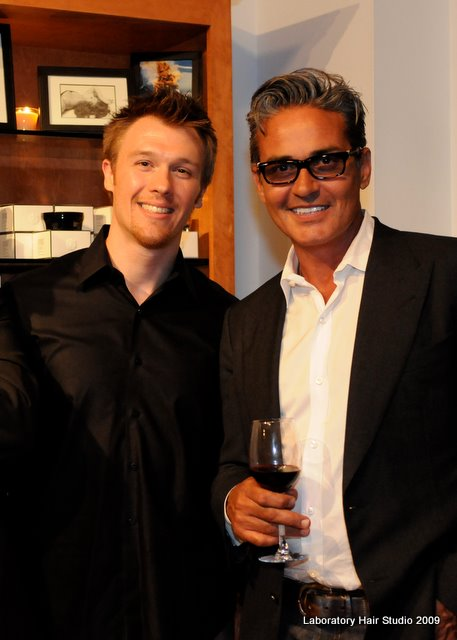 Laboratory Hair Studio owner and lead stylist Mark Kuzma and Oribe
