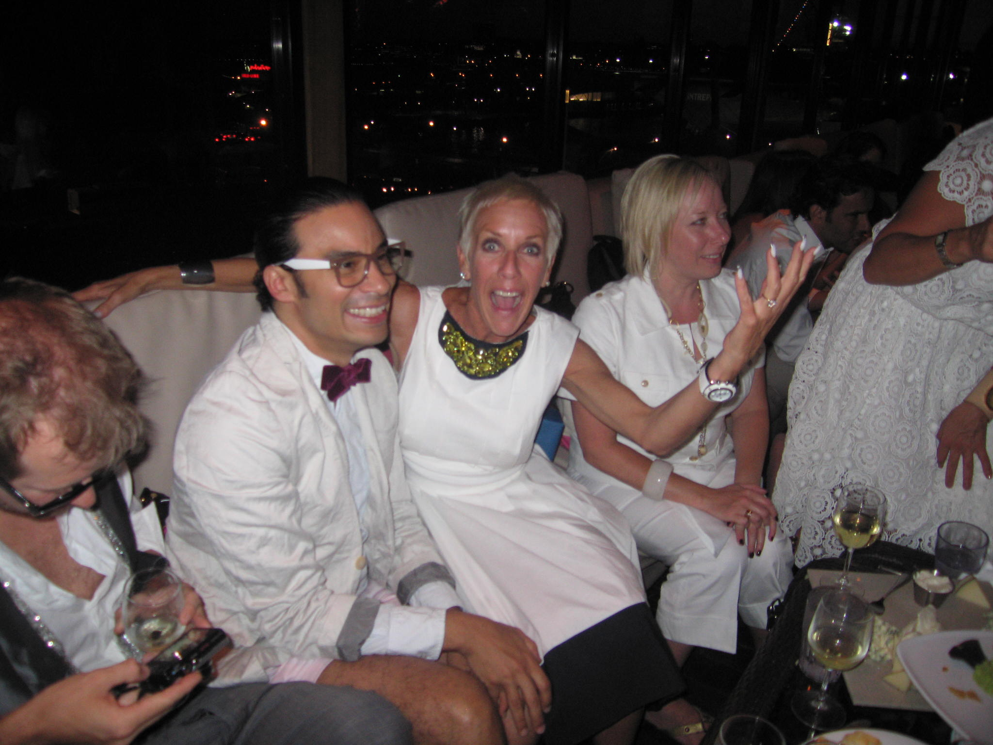 Jan Arnold with fashion designer Victor de Souza
