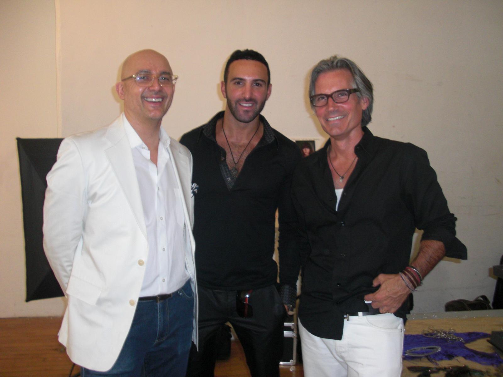 Co-owners Damian Santiago and Vaughn Acord flank Creative Color Director Dimitrios Tsioumas