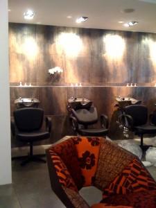 Shampoo stations at Hair Rules New York