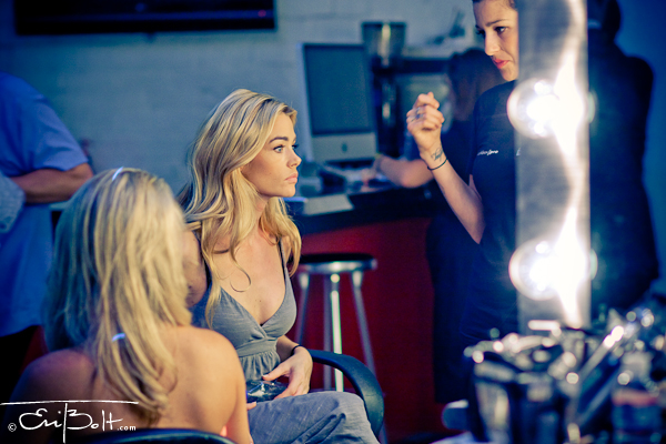 Denise Richards gets ready for the catwalk