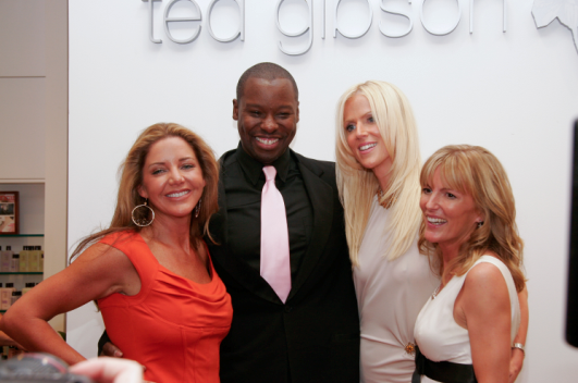 Ted with three cast members from Bravo's new The Real Housewives of D.C.
