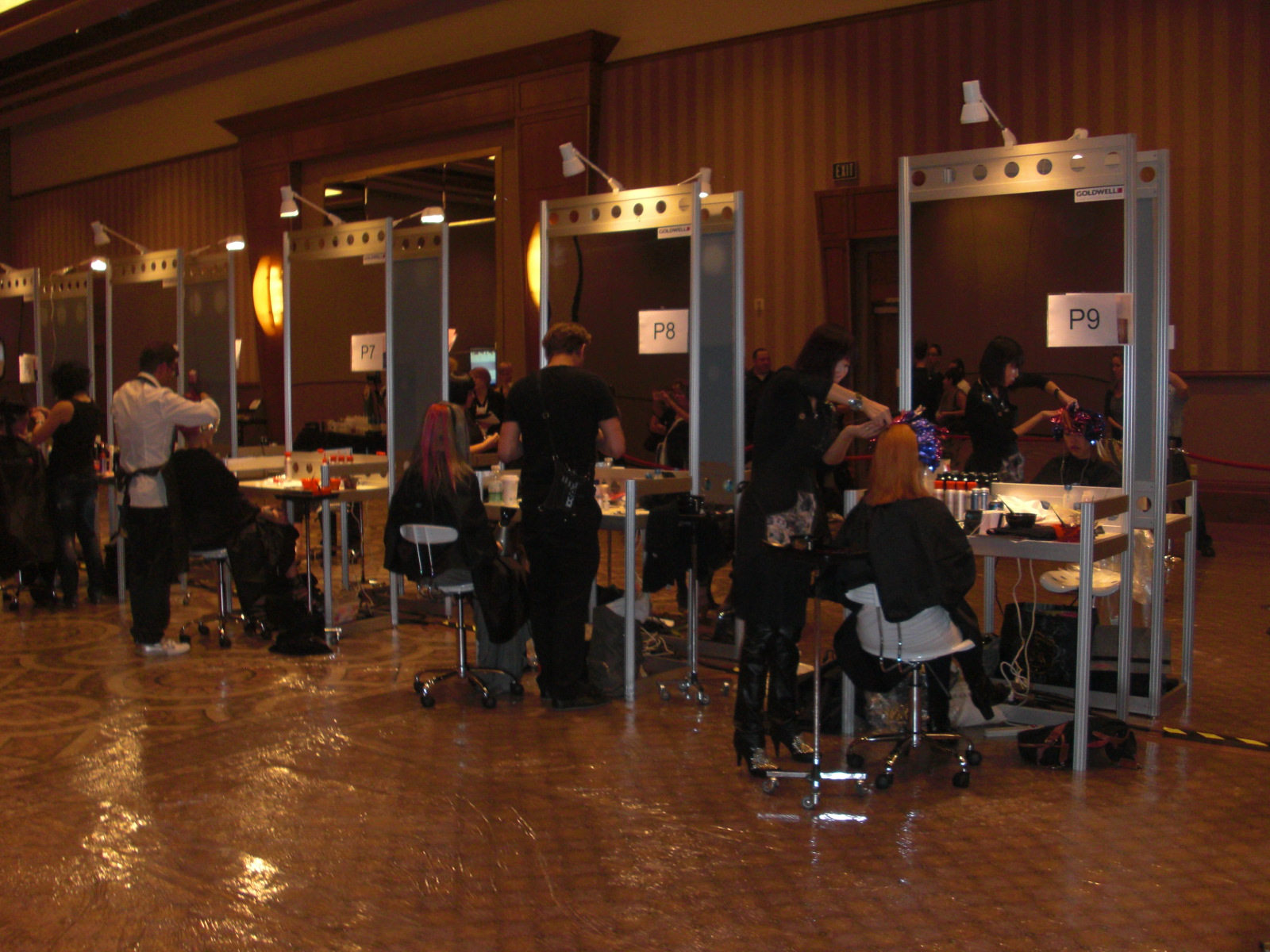 Finalists working on their models during the live competition