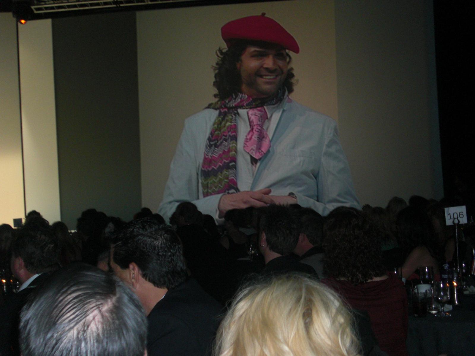 Co-host John Simpson announcing the Color Zoom 2010 finals location: Paris!