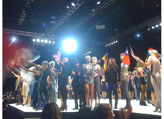 Finalists from 27 countries take to the runway with their models