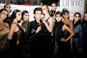 Estrada with his models