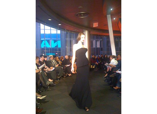 Models walked the runway overlooking Times Square