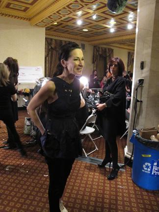Designer Cynthia Rowley backstage